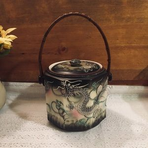 Japanese Dragonware Covered Tea Caddy